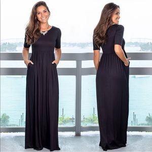 Dresses & Skirts - Black Women's dress maxi knit casual boho dress